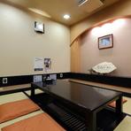 大切な方へのおもてなしに最適な、洗練された個室空間