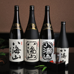 『八海山』の当店限定酒他、全てのレパートリーを揃えています。