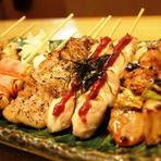 鶏大国宮崎地鶏を使った串焼き