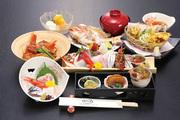 刺盛、珍味三点、焼魚、煮魚、揚物、ちらし寿司、汁、デザート