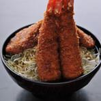 ミックス丼 ヒレ肉2枚、エビ2本
