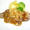 麦豚ロース肉のソテー きのこ&ガーリックソース