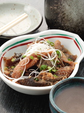 鮮魚皮酢 (秘伝の甘酢が絶品)