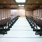 大広間は最大120名様まで利用可能。少人数のグループにも最適