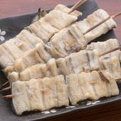 伊佐美・赤霧島等の芋焼酎をちびりとやりながら、一口大のうなぎ
