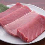 天然物のインドマグロは、お鮨にはぴったりです