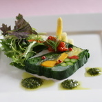明石大村農園産有機野菜のテリーヌ