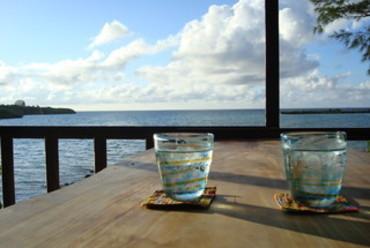 テーブル席からの風景