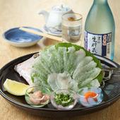 伊豆ならでは、高級食材をふんだんに盛り込んだ料理に舌鼓