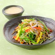 お酒のおつまみに。  そばサラダ       ¥496 季節野菜の素揚げ    ¥604 ひげにんにくの天ぷら  ¥453 海老と山芋のゆば巻き  ¥442 タコのわさび漬け    ¥367 えだまめ        ¥378