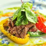 子牛フィレ肉のグリル(大葉とフレッシュトマトソース)