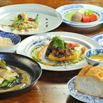 毎月全ての料理が変わる、お昼の遊膳コースで旬の味わいを