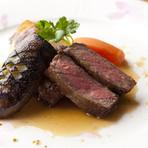 国産牛ロースのステーキ。
