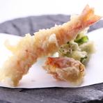 天ぷら盛り合わせ(海老2尾・お魚・お野菜)