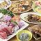 海の幸を中心にバラエティ豊かな料理に、宴会も盛り上ります
