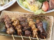 引きたての新鮮な鶏肉を熱々焼きたてで味わう『やきとり』