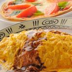 『トロトロ卵のオムライス』と『バジルトマトピッツァ』
