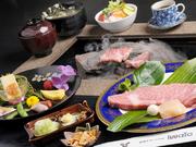 特選牛サーロインステーキの石焼きが愉しめる贅沢なコースです。