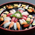 築地直送の旬のネタを堪能『寿司盛り合わせ』