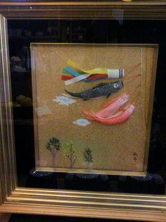 今月の加茂弘子さんの作品(月替りで展示しています)