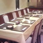 テーブル席は13名様までです。