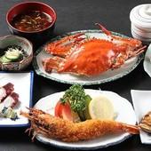 蟹は仕入れ時期により価格変動有り 3000円以上のコース料理1例