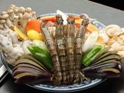 海鮮焼盛り合わせ+もんじゃ+お好み焼き+焼そば+あんこ巻き 新鮮な魚介がたっぷりな宴会コースです。