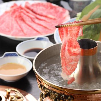 【忘・新年会】特上牛すき焼・しゃぶコース(飲み放題)8000円