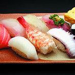 新鮮なネタを使った握り寿司!