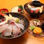 「あまくさぜいたく丼」1,800円(税込1944円)