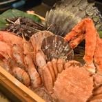 ~彩の海~店内にあるいけすには魚介類が20種類以上が泳ぐ