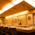 寿司・サービス・空間の全てにおいて満足できます。桜の季節にも