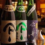 おそばの前に日本酒をちびり…。贅沢な大人の時間です。