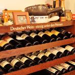 スイスビールやワインが充実。良質な仏・独・伊ワインも揃う