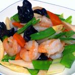 海老と野菜の海味醤炒め