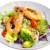 ボイル海老野菜サラダ