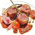 フランス産・仔鴨胸肉のロースト、コリアンダーとワインビネガーのソース