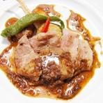 フランス産 仔鴨もも肉のコンフィ、粒マスタードソース