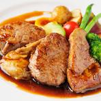 仔牛フィレ肉とフォアグラの重ね焼き、トリュフソース