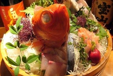 金目鯛など地元でとれた旬のおいしさが魅力の『鮮魚盛り合わせ』