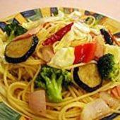 ベーコンと野菜のスパゲティー