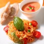本日の最高食材を使ったコースです 。特にお魚料理は、活けオマール海老とお魚のポアレと豪華です。
