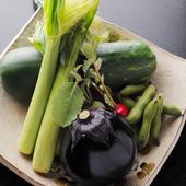 季節の野菜をお楽しみ下さい。