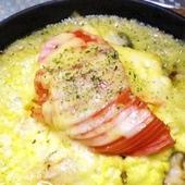 魚とトマトのチーズ焼き