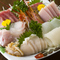 地元三陸にこだわった鮮魚。米は新潟産コシヒカリ