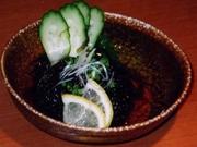 沖縄産の太もずくで酢の物を生姜の風味で