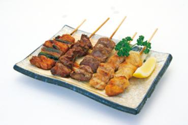 黒豚の串焼盛合せ(5種5本)