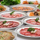 宴会個室は最大50名様完備。焼肉&飲み放題コース 4900円~
