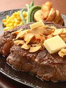 最高級リブロースを使用した、『テキサス』おすすめの一品。ご飯ともよく合うオリジナルソースでどうぞ。