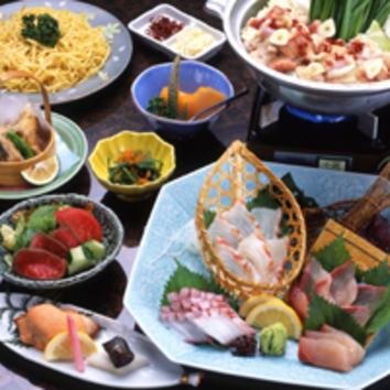 博多もつ鍋と刺盛コース